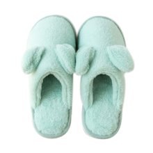 Women, Lovely Cotton Slippers Winter Warm Indoor Slippers Home Slippers,Cyan