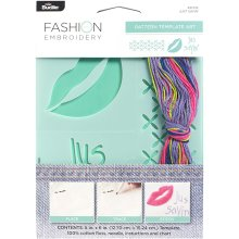 "Bucilla Fashion Embroidery Template Kit 5""X6""-Just Sayin'"