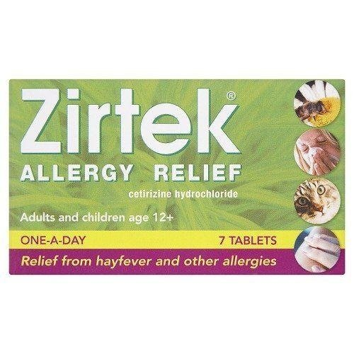 Zirtek Allergy Relief One a Day 7 Tablets