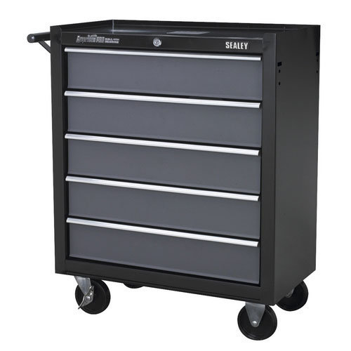Sealey AP2505B 5 Drawer Rollcab with Ball Bearing Runners - Black/Grey