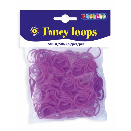 PBX2471089 - * Playbox - Loops (Loom Bands) - 500pcs purple