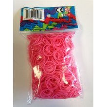 Official Rainbow Loom Refill Pack - Pink (600 count) and 24 C-Clips