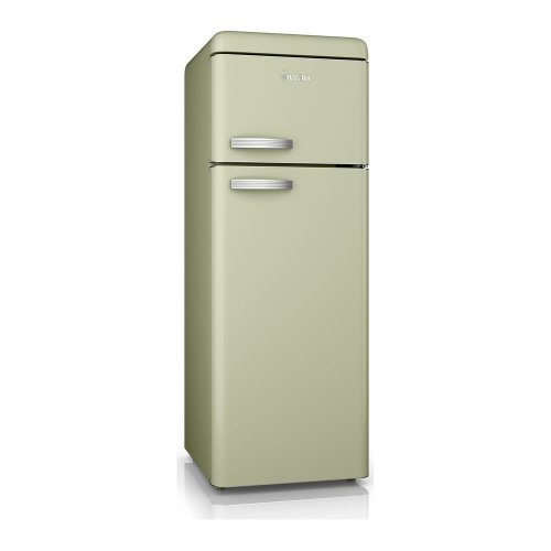 SWAN SR11010GN Fridge Freezer - Green, Green