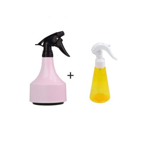 Inexpensivel Plastic Spray bottle small watering pot (Pink+Yellow)