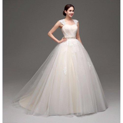 Champagne Wedding Dresses Ball Gown Straps Bride Gowns bohemian vestidos de noiva de luxo 2017