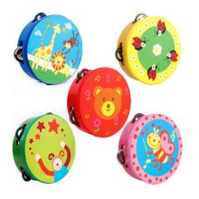 Kids Musical Instruments Toy Tambourine Cute Hand Drum, Baby Girl(Color Random)