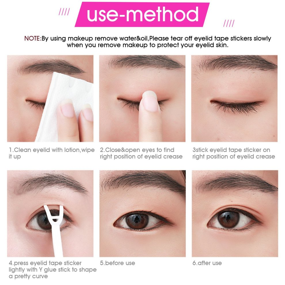 Natural Invisible Double Eyelid Tape, Self Self-adhesive One Side Sticky  Eyelid Stickers - Instant Eye Lift Without Surgery - Perfect for Hooded,
