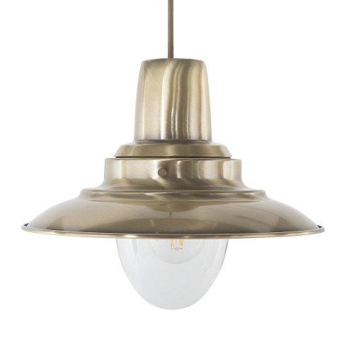Metal Pendant Lamp Gold PINEGA