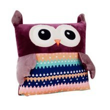 Warm Hands Cover Pillow Plush Toy Birthday Gift For Girl Large Pillow Purple Owl