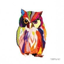 4 x Paper Napkins - Leros Owl  - Ideal for Decoupage / Napkin Art