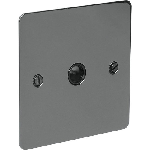 Flat Plate Black Nickel 20A Flex Outlet Plate 20 amp rated