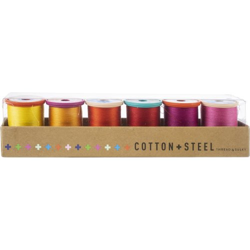 Sulky Cotton & Steel Thread Collection 50Wt 660Yd 6/Pkg-Pepper