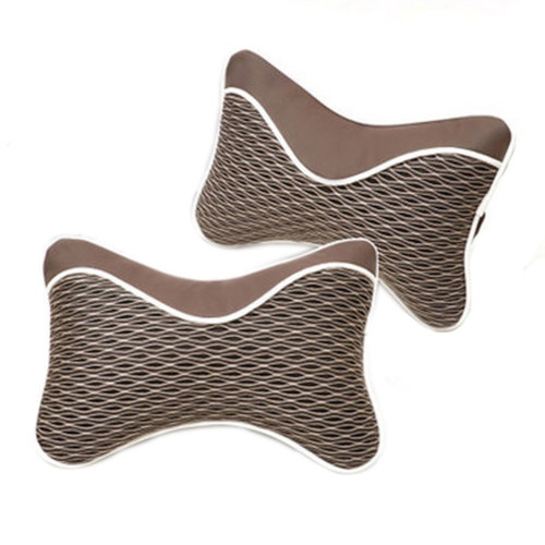 Breathable Car Neck Pillow Seat Neck Rest Pillow Neck Pillow (1 Pair), Chocolate