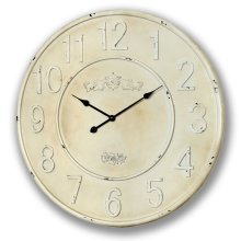 Large Rustic Cream Clock