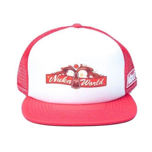 Fallout 4 Nuka World Trucker Baseball Cap White/Red (TC001FAL)