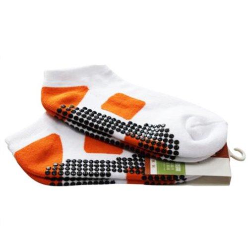 Non Slip Wearable Orange Yoga Socks Breathable Soft Socks