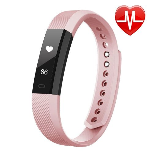 LETSCOM Fitness Tracker HR, Fitness Tracker Watch with Heart Rate Monitor, Slim Touch Screen and Wristbands, Wearable Waterproof Activity Tracker...