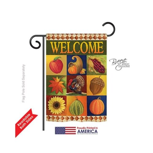 Breeze Decor 63046 Harvest & Autumn Autumn Collage 2-Sided Impression Garden Flag - 13 x 18.5 in.