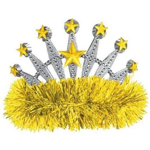 Amscan 395986.09 Yellow Tiara - Pack of 9
