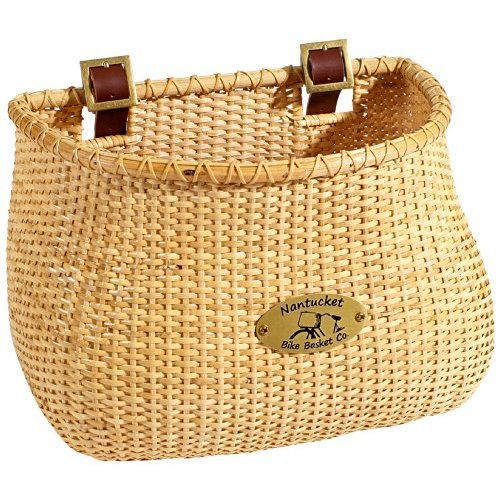 Nantucket Bike Basket Co Lightship Collection Classic Tapered Natural Bicycle Basket Tan 12 X 7 5 X 9