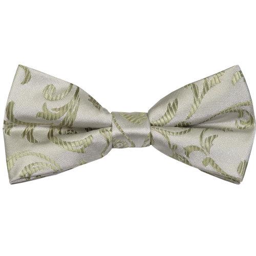 Emerald Green Swirl Leaf Wedding Bow Tie #AB-BB1000/12