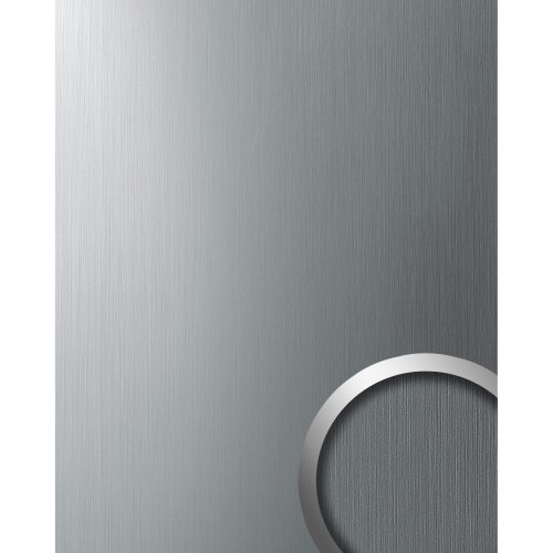 WallFace 10298 DECO Wall panel decor metallized surface silver brushed 2.60 sqm