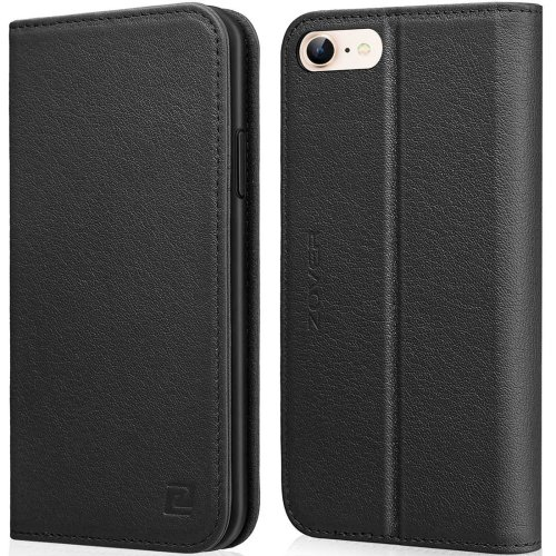 df0d857101ff ZOVER iPhone 6 Leather Case, iPhone 6s Case Wallet Flip Folio Case with  Card Holders Magnetic Closure and Kickstand Function -Black