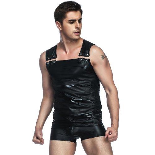 Sexy Men's Leather Vest