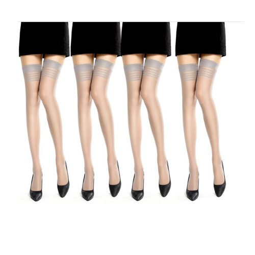 6 Pairs Women Over Knee High Stockings Good Ornaments for Matching Clothes
