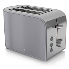 Swan 2-Slice Retro Toaster With Browning Control 800 W - Grey (ST17020GRN)