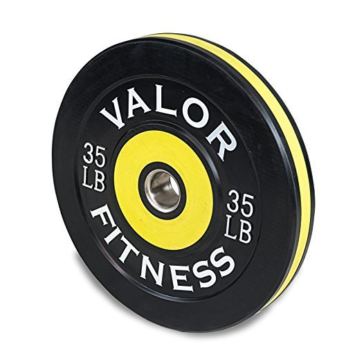 Valor Fitness BPP 35 Bumper Plate Pro Sold as Individual Plates 35lbs each