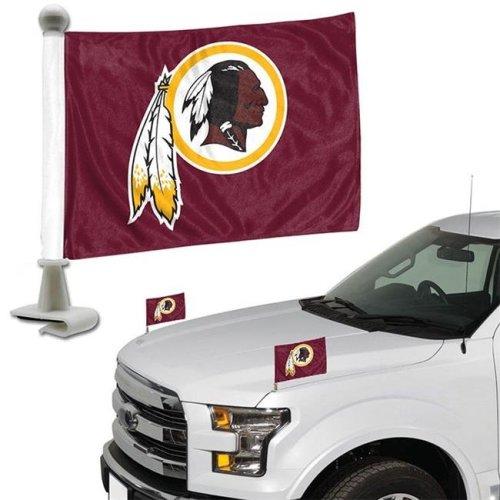 Team ProMark 84807 4 x 6 in. Washington Redskins Ambassador Car Flag, Set of 2