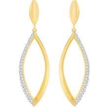 Swarovski Grape Short Pierced Earrings - White - 5264815