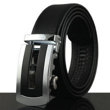 Mens Business Luxury Strap Cowhide Leather Belt Casual Automatic Buckle High Quality Leather Belt