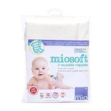 Bambino Mio Miosoft Reusable Nappy, OneSize, 4 Pack