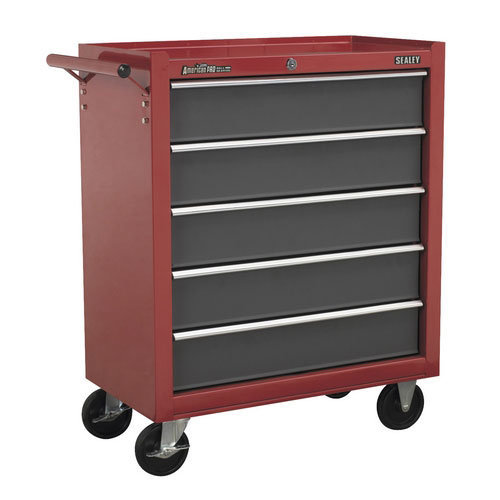 Sealey AP22505BB 5 Drawer Rollcab with Ball Bearing Runners - Red/Grey