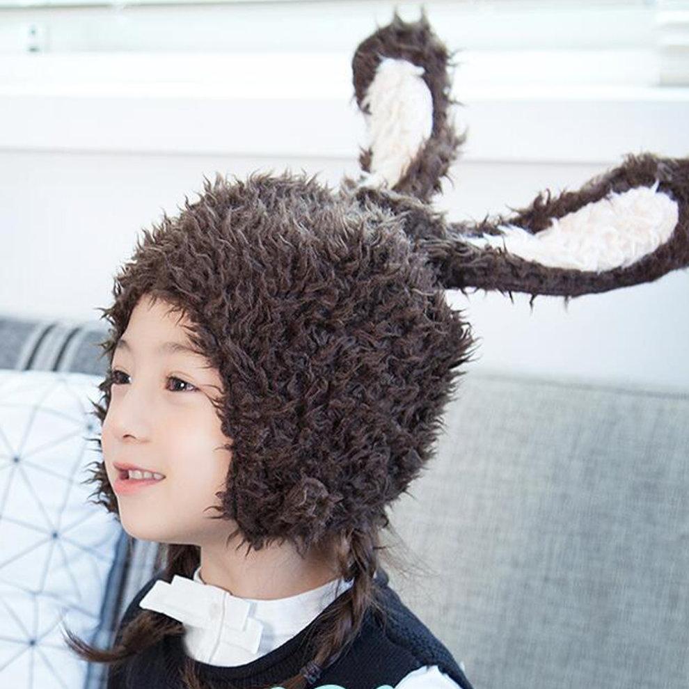 382e51939a9 ... Kids Boys Girls Keep Warm Head Cap Lovely Fashion Hats Long Rabbit Ears  Hat-A1.
