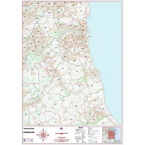 Postcode City Sector Map  - Sunderland