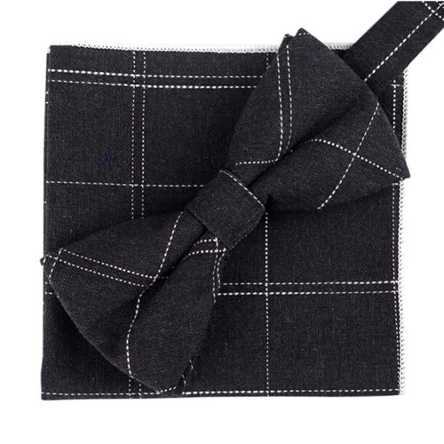Fashion Casual Bow Tie Pocket Square Business Necktie Pocket Cloth NO.01