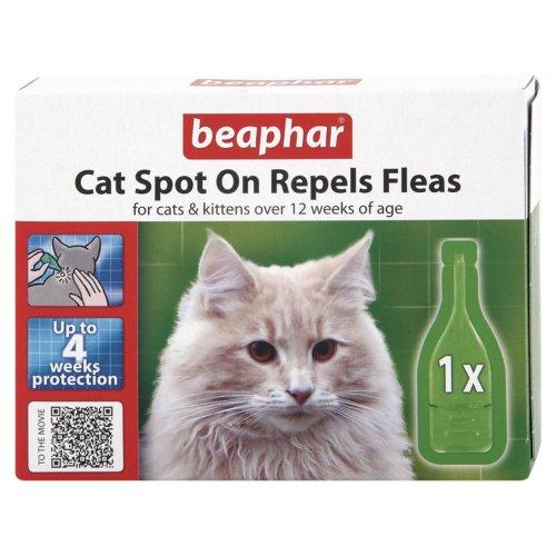 Beaphar Cat Flea Drops - 4 Week Protection (Pack of 6)