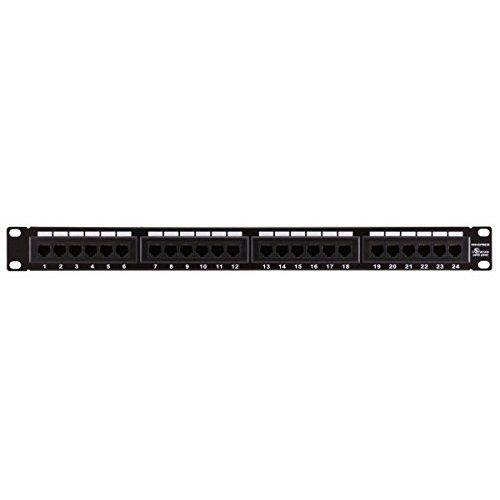 Monoprice 107253 110 Type 24 Port Cat6 Patch Panel 568AB Compatible