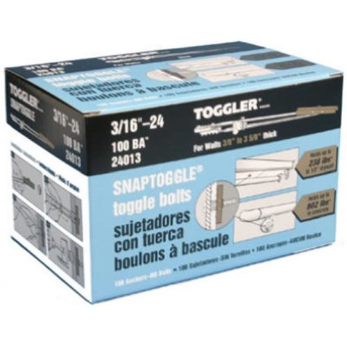 Mechanical Plastics 24013 5.4 x 5.3 in. Toggler Snaptoggle BA Hollow Wall Anchors - 100 Pack