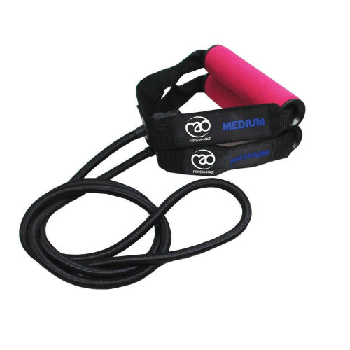 Fitness Mad Exercise Fitness Resistance Tubes Medium - Pink