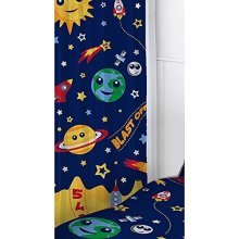 Space Curtains - 72 Inch - Set Single Duvet Bedroom Gift Official Product Boys -  set single duvet space curtains 72 inch bedroom gift official