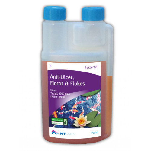 NT Labs Pond Aid Bacterad Anti-Ulcer, Fin-Rot & Flukes 500ml