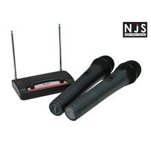 NJS VHF Twin Handheld Radio Microphone System Battery Operated
