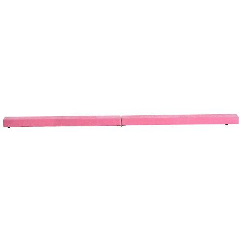 HOMCOM Balance Beam Trainer, 2.1 m-Pink