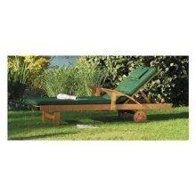 Acacia Hardwood Sunlounger with Cushion