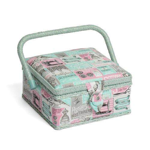 Hobbygift Classic Sewing Basket - Notions - 20cm x 20cm x 11cm