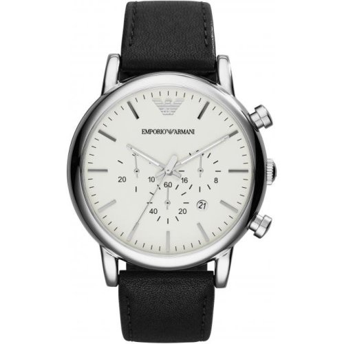 Emporio Armani AR1807 Watch Round Leather Man
